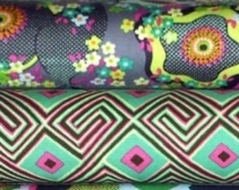Amy Butler GLOW cotton fabric bundle - half yard cuts, 2 pieces