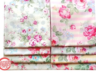 Princess Rose Fabric by Lecien - quilting cotton fabric - 8 fat quarters