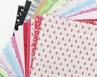 Layer cake fabric pack - 10 inch squares - quilt cotton bundle - 42 pieces set, Lecien Japan Origami SP15