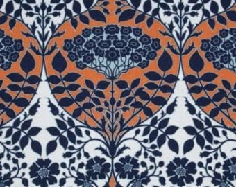 Leafy Damask JD88 Apricot- Botanique by Joel Dewberry - quilting cotton fabric