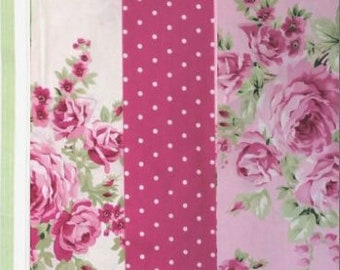 Barefoot Roses Legacy Tanya Whelan - fat quarter bundle, 4 pieces - shabby cottage country chic