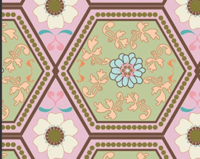 SALE  Pat Bravo Girly Girl Cotton Fabric - Reflection GIG507 Creamy, 1.5 yard remnant