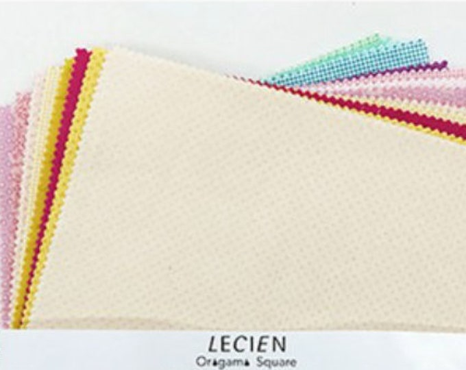 "Layer cake 10"" x 10"" fabric squares pack - Origami Lecien Japan, Quilter's Basics Smoothie Color set - 42 pieces"
