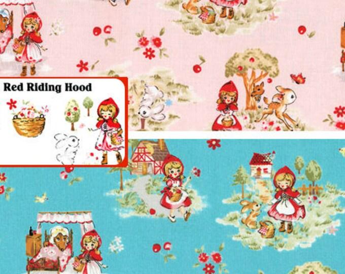 Little Red Riding Hood - Allover L5397 Lecien Japan, select bundle or 1/2 yard