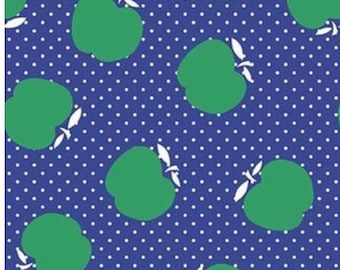 SALE Sunnyside Avenue Apples RB7101 - blue green quilt fabric, by Amy Smart for Riley Blake