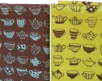 Japanese Cotton Fabric - Teapots - Cosmo Textile Japan