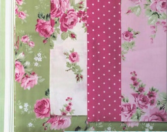 Barefoot Roses Legacy by Tanya Whelan - 5 piece fat quarter bundle