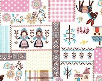 Glitter Patch Fabric Scandinavian  K475B  by Kokka