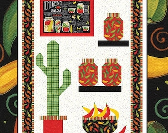 Homegrown Salsa by Deb Strain for Moda - Salsa Time Wall Quilt Kit