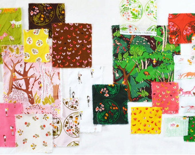 Tiger Lily by Heather Ross, Quilting cotton fabric - 23 Fat Quarters