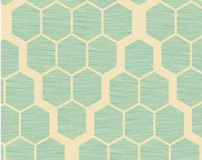 SALE HOME DECOR Bungalow by Joel Dewberry - Hive HDJD024 Mint, Wide Width Cotton Sateen - 1 yard