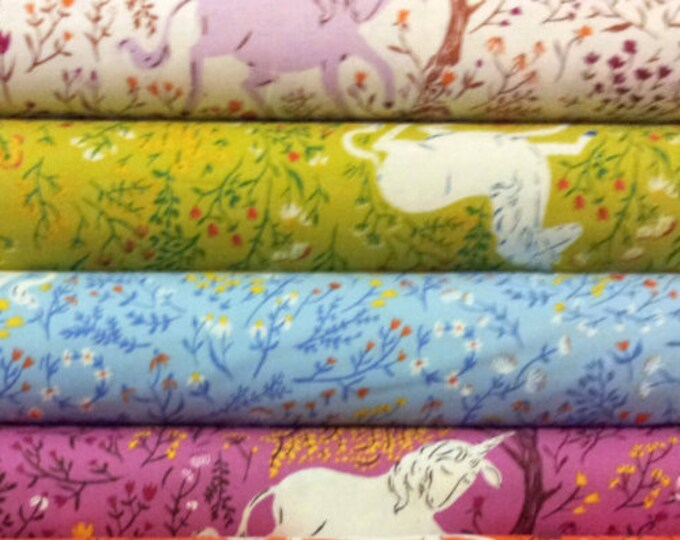 Quilting cotton Unicorn HR9657 - Far Far Away by Heather Ross, remnant cuts -select a color-way