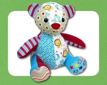 Funky Friends Factory - Assorted Patterns - Melody Memory Bear, Patch the Pussycat, Heather Hippo