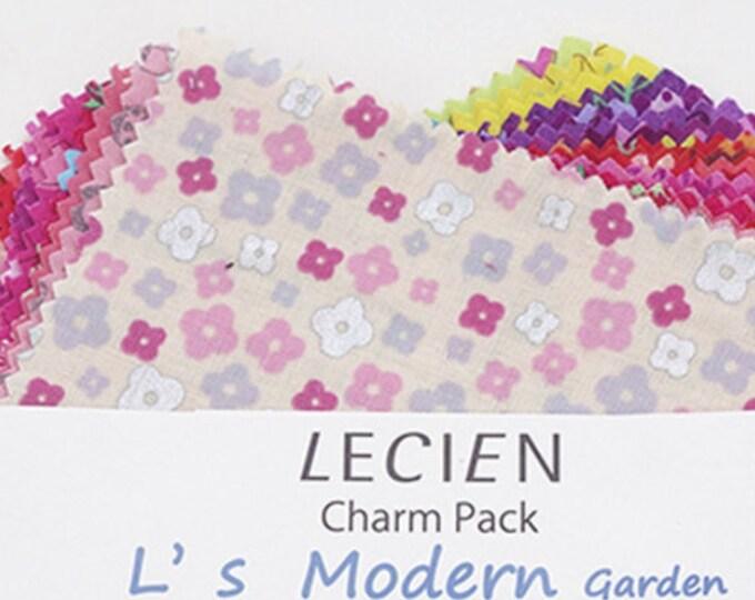 """Lecien 5"""" x 5"""" Charm Pack L's Modern Garden Floral SP16 Warm color set 42 pieces"""