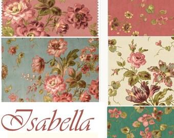 Isabella - 5 fat quarters - Penny Rose Riley Blake cotton fabric mini bundle