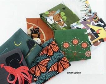Charley Harper Organic Barkcloth Birch Fabrics CHBK20- 8 Fat Quarters