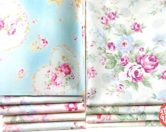 Princess Rose Fabric by Lecien - quilting cotton fabric - 9 fat quarters