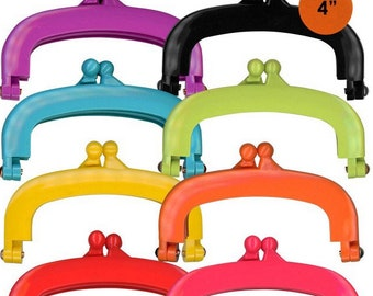 """Lecien Jelly clip SMALL 4"""" in 8 colors - resin acrylic kiss lock for purse,  1 clip - choose a color"""