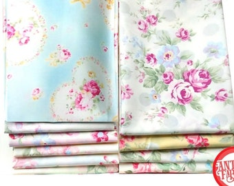 Princess Rose Fabric by Lecien - quilting cotton fabric - 10 fat quarters
