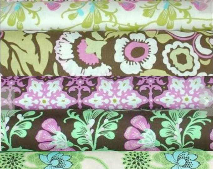 Amy Butler - Daisy Chain Quilting cotton fabric bundle - Fat Quarter set of 9
