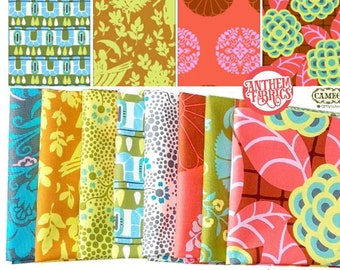 Amy Butler Fabric Cameo -  Tall Stories Fat quarter bundle of 8
