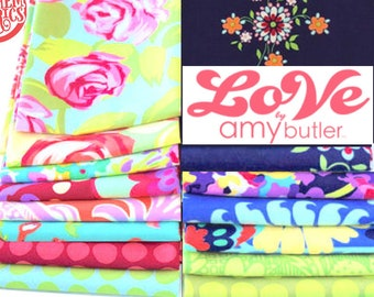 LOVE by Amy Butler - Fat quarter set of  14 pieces fabric bundle
