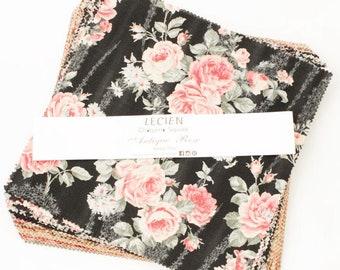 Cotton Fabric layer cake 10x10 inch squares -   Antique Rose  Origami pack, L3037-03SQ, 42 piece set