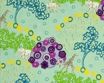 Echino by Etsuko Furuya - Cotton Linen Fabric - Quiet Ground EF503B mint green, 53 inches