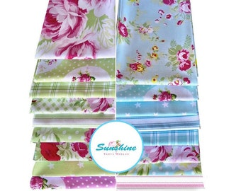 Tanya Whelan Sunshine - Fat Quarters quilting cotton fabric bundle, 17 fat quarters