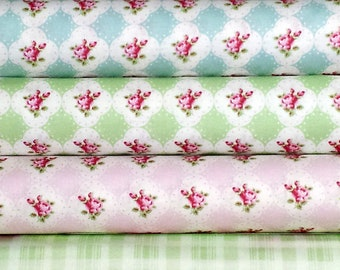 Rosey by Tanya Whelan - country cottage shabby chic quilting cotton, select a yard of your choice