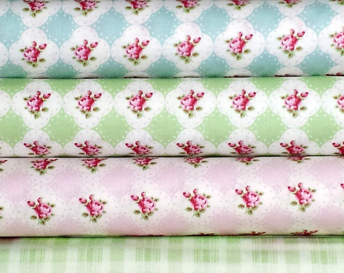 SALE Rosey by Tanya Whelan - country cottage shabby chic quilting cotton, select a yard of your choice