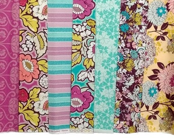 1/2 yard bundle of 7, Bespoken by Art Gallery Fabrics