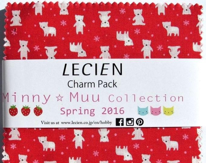 Lecien Japan 5 inch squares Charm Pack Minny Muu SPR16 Animals - fabric set 42 pieces