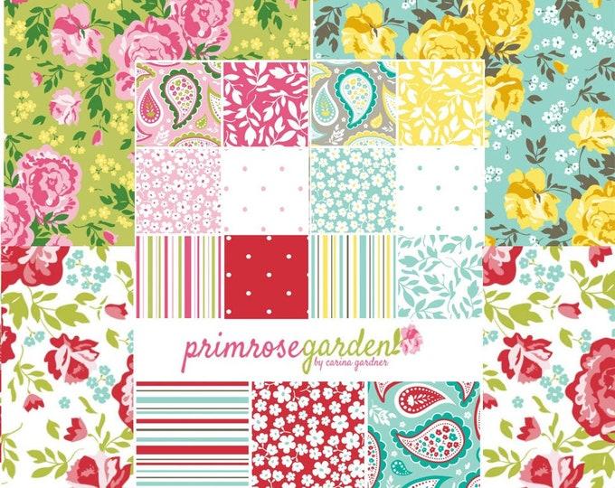 Primrose Garden Carina Gardner for Riley Blake - floral quilting fabric bundle - 18 Fat Quarters