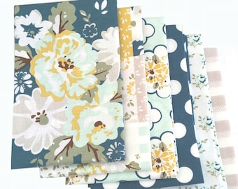 Wiltshire Daisy in Blue Gray - Bundle of 6 - by Carina Gardner for Riley Blake Designs