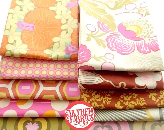 Amy Butler, Midwest Modern and Midwest Modern2 cotton fabric bundle, 10 fat quarters