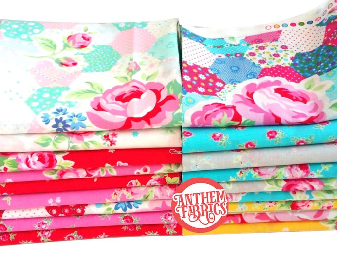 Flower Sugar - Lecien Fat Quarter fabric bundle - 18 piece set SP15