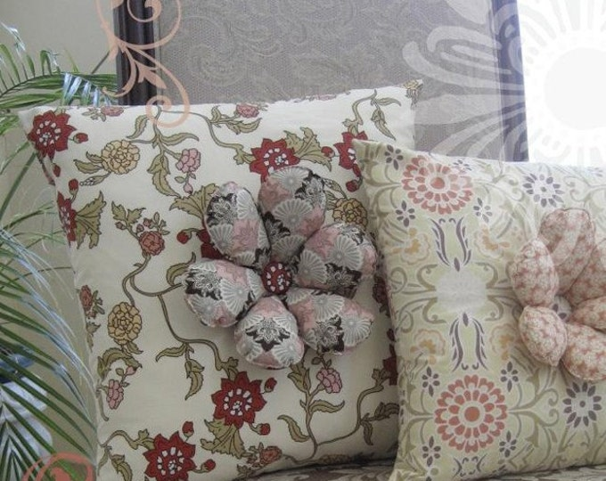 Art Gallery Patricia Bravo - Blossom Pillows with 3-D petals sewing pattern