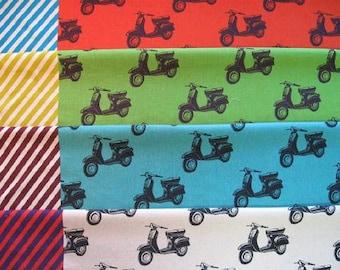 ECHINO Scooters Stripes - ECHINO Nico  by Etsuko Furuya - EF700, 1/2 yard  choose a color