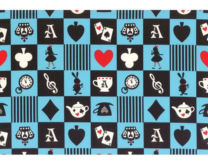 Girls Story Alice in Wonderland - Alice Squares L52-70 Blue , Lecien of Japan, 30 inches