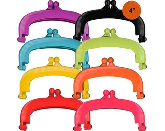 "Lecien Jelly clip SMALL 4"" in 8 colors - resin acrylic kiss lock for purse,  1 clip - choose a color"