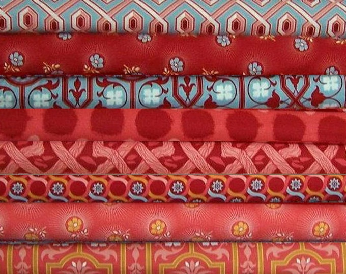 Deer Valley by Joel Dewberry , Persimmon Fat Quarter set, 8 pieces