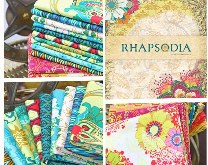 SALE Rhapsodia - by the yard, Patricia Bravo Art Gallery Fabric