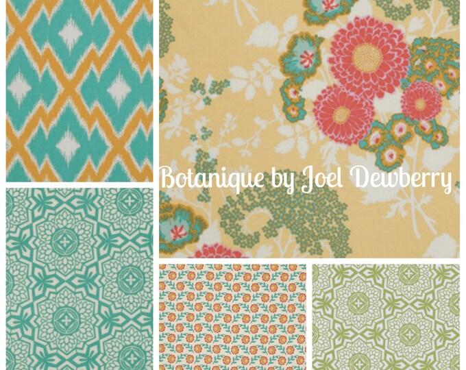 Botanique by Joel Dewberry - Golden Hour color way - quilting cotton fabric bundle - 5 fat quarters