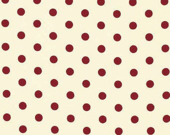 HOME DECOR Petal by Tanya Whelan - French Dots HDTW058 Red - by the yard