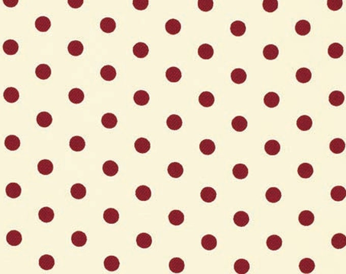HOME DECOR Petal by Tanya Whelan - French Dots HDTW058 Red - half yard