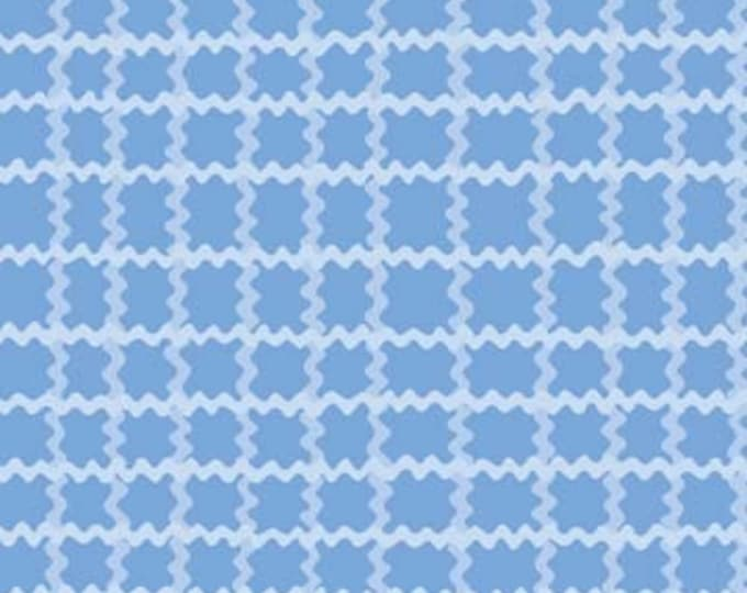 Cotton Fabric Frolic by Wendy Slotboom -  Rickrack Plaid IB8WSA1  Blue