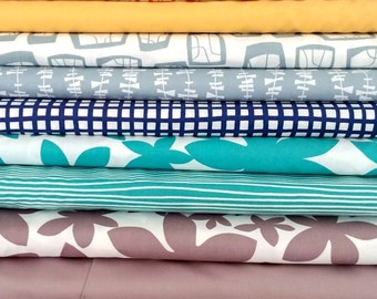 GLIMMA by Lotta Jansdotter - 8 fat quarters - quilt cotton fabric bundle