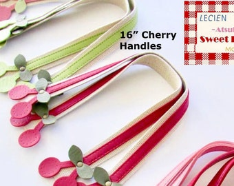 "Sweet Fruit Handles By Atsuko for Lecien Japan - Cherry 16"" Medium - 1 pair - choose a color"