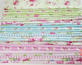 Tanya Whelan fabric Sunshine quilting cotton bundle, country cottage french chic - 8 fat quarters, select a color-way